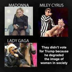 Deze dames vinden Trump een seksist !