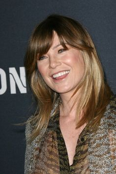 Ellen Pompeos ombre hairstyle with bangs