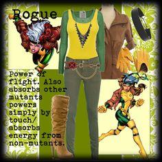 X-Men: Rogue by ghsdrummajor on Polyvore featuring Friendly Hunting, Vince, Citizens of Humanity, Michael Antonio, Leslie Danzis, Ralph Lauren Collection, Bottega Veneta and Jennifer Behr