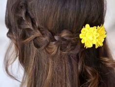 1 sided loose braids