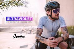 Nothing feels better than riding your bike in the sun, but as an outdoor sport road cycling also leaves you exposed to UV radiation. Our apparel products uses technologies which offers a level of UV protection through their unique fibre production techniques. Ahead of the holiday season we have gathered all Isadore Apparel product, which can help reduce UV exposure during your holiday rides. #isadoreapparel #roadisthewayoflife #cyclingmemories Bicycling, Road Cycling, Ultra Violet, Oakley Sunglasses, Feel Good, Competition, Feels, Leaves, Bike