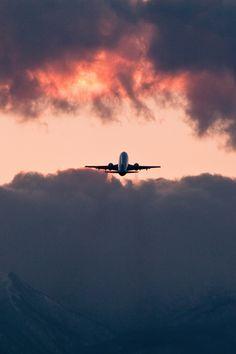 beautiful, flying, grunge, nature, photo, photografy, plane, sky, sunset, tumblr, vertical, vintage, rrrrr, plane taking off