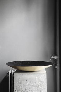 "Modern bathroom with Inox Stainless Steel bathroom taps & solid surface design basins and wash bowls   Have a look at the ""Es Cubells"" and ""Porroig"" series by COCOON   Moderne badkamer met RVS badkamerkranen & wastafel design, verkrijgbaar op byCOCOON.nl   COCOON Dutch Designer Brand."