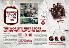 FOX :: The Walking Dead Blood Store - gdonada's portfolio Walking Dead Season 4, The Walking Dead, Blood Donation, Public, Fox, Foxes, Red Fox