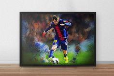 Lionel Messi  Lionel Messi Poster  Barcelona  by TroutLifeStudio