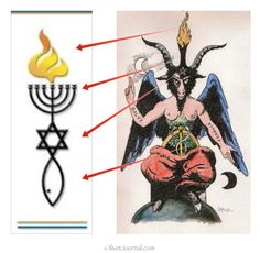 Messianic Seal and Baphomet parallel.