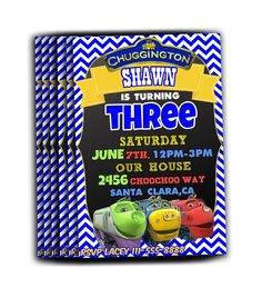 Chuggington Birthday Party Invitations - Personalize and Print