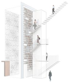 architecture perspective diagram _ Urban Townhouse / GLUCK+
