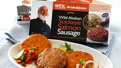 Pork sausage? I think I'll opt for salmon sausage! Dr. Weil approved!
