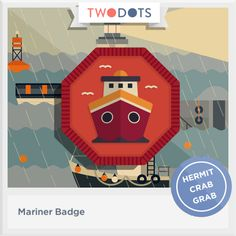 I sailed the ocean and earned my Mariner Badge! - playtwo.do/ts #twodots