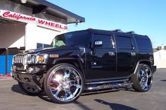 Hummer after modification and/or restoration by California Wheels. Visit this section to see stunning photos with complete step by step build photos. Hummer Truck, Hummer H3, My Dream Car, Dream Cars, Hammer Car, Chevrolet Silverado, Custom Cars, Restoration, Wheels