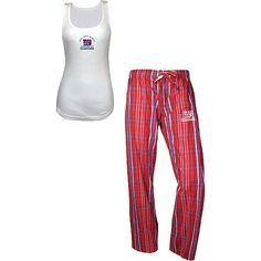 Reebok New York Giants Super Bowl XLVI Champions Women's Pajama Set - NFLShop.com
