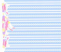 Birthday Macaron: Sax fabric by dreamcircus on Spoonflower - custom fabric