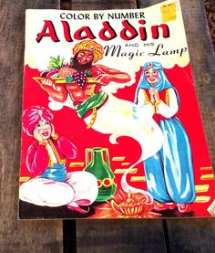 Vintage Antique Estate Color By Numbers Aladdin by MADVintology