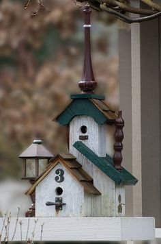 IDEA: Put solar lights somewhere on the platform of the birdhouses!