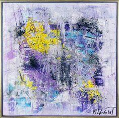 Night Lights I 80x80 cm - SOLD - Art by Lønfeldt - Art original acrylic abstract paintings