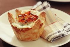 For breakfast on the go, make these adorable little bacon and egg pies.