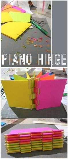 Piano Hinge Notebook | 37 Awesome DIYs To Make Before School Starts! Most are for elementary kids but some apply to high schoolers too