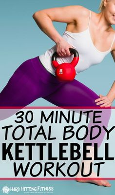 Great 30 minute kettlebell workout for the entire body! Nice way to change it up and get an effective workout done in the 30 minutes.