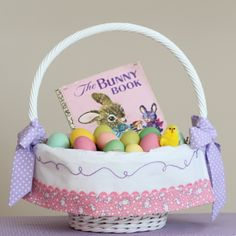 By TaDa! Creations on Etsy: Easter basket liners, made to fit Pottery Barn Sabrina Easter Baskets.
