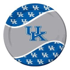 Kentucky UK Wildcats NCAA 9-inch Luncheon or Dinner Paper Plate picnic, tailgate, Gameday Party Supplies $4.00