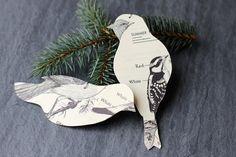 Set of 2 Bird Ornaments Eco Friendly by FiddleheadsForFiona