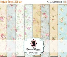 75% OFF SALE DIGITAL Paper Digital Collage Sheet by cameoshoppe