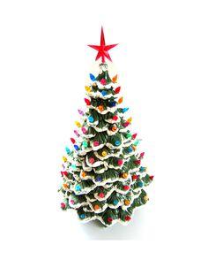 Large Vintage Ceramic Christmas Tree w/ Lights by lakesidecottage, $60.00