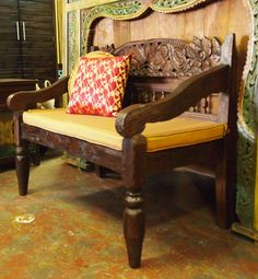 Rustic Carved Indonesian Bench Visit Gado For A Great Selection Of Furniture