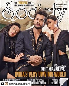 Shreya c n Edna for society magazine cover #cover#magazine#toabhmodels#teamwork #covershot#