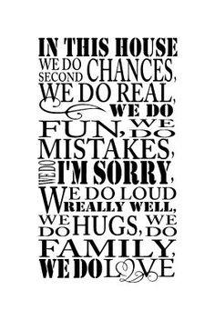 In this house we do fun wall decal 13 x 23 by glassden on Etsy, $25.00