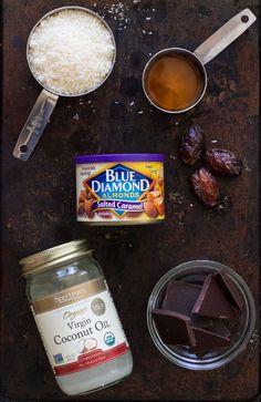 Salted Almond Dark Chocolate Coconut Bites