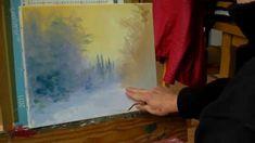 Pascal CLUS  Foret  enneigee Peinture au couteau Painting Knife