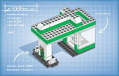 LEGO.com LEGO Club Building Instruction - Gas Station