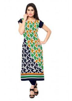 Ethnic Wear Readymade Multicolour Crepe Kurti - 145
