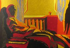 Akryl - Siedzący mężczyzna Modern Art, Painting, Paintings, Contemporary Art, Draw, Drawings