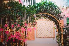 When the bride is the creative head at Rani Pink, you are bound to expect wedding decor that is out of the ordinary. But this neon pink Mehendi may just come in our dreams tonight, it is so darn adorable. We love how all three events were so different in this wedding, and how the bride Anika infused