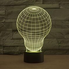 Lightbulb Pattern Colorful 3D LED Lamp-GoAmiroo Store