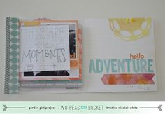 Matchbook Mini - by Kristina Nicolai @ Two Peas in a Bucket, with many photos and video tutorial, love this mini album
