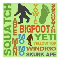 Names For Bigfoot Print