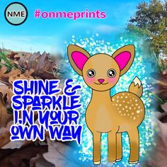 Inside us all is a light that is waiting to shine and inspire! #onmeprints #light #inspire #deer #cutedeer #kawaiideer #kawaiicute #adorable #lovelydeer #quote #inspire #dailyquote #inspirequote #motivational #dream #sparkle #shine #happyquote #cutenessoverload #truelove Happy Motivational Quotes, Cute Quotes, Happy Quotes, Inspirational Quotes, Pink Sparkles, Glitter Stars, Make Your Own Puzzle, Custom Gift Boxes, Star Sky