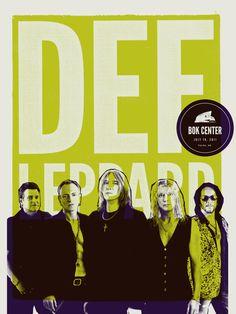 BOK Center: Def Leppard Poster