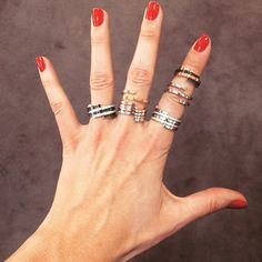 Spirale dinh van rings seen by @marialeonstyle ! #dinhvan #paris #jewels #jewelry #spirale #rings #gold #diamonds #madrid