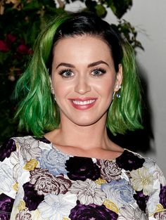 Pin for Later: Katy Perry Shares Her Secret to Feeling Happy About Your Looks All About That Rainbow Hair