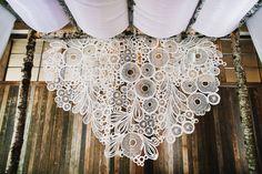 crochet lace backdrop