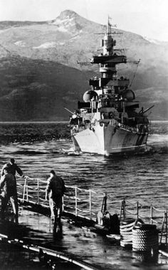 """Heavy Cruiser Admiral Hipper taken from the Tirpitz in Norway on July 1942 during """"Operation Rosselsprung"""" in Bosnia, Yugoslavia. Cruisers, German Submarines, Heavy Cruiser, Naval History, Navy Ships, Aircraft Carrier, Royal Navy, War Machine, Navy"""