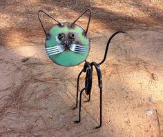 Springy SCRAP METAL Junk Yard Cat SCULPTURE...Unusual Gift