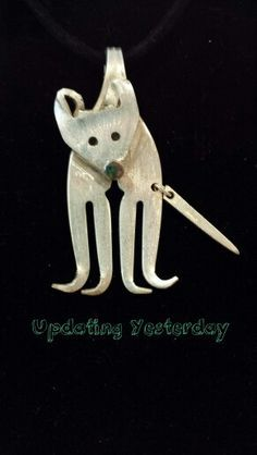 Dog silver plate fork jewelry