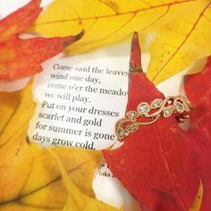 """""""Come said the leaves to the wind one day, come o'er the meadows and we will play. Put on your dresses scarlet and gold for summer is gone and the days grow cold. Gone Days, George Eliot, Friday Feeling, Scarlet, Put On, Evans, Mary, Cold, Jewels"""