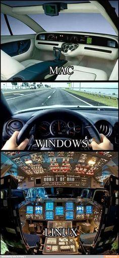 Windows frente a Mac y Linux